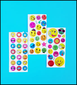 Puffy Smiley Stickers