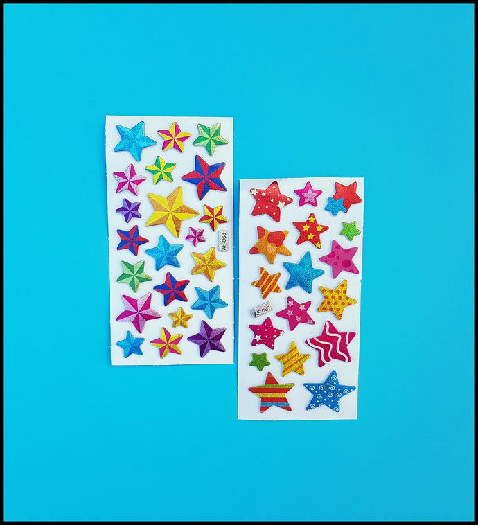 Puffy Star Stickers