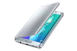 Samsung Galaxy S6 Edge Plus S-View Flip Cover Case - Silver and Black Sapphire - Henton - Shop Hentons