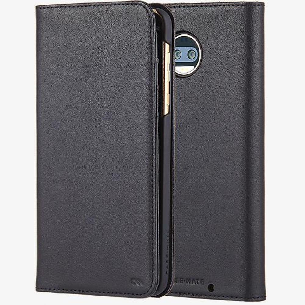 Case Mate Moto Z2 Wallet Folio Handcrafted Genuine Leather Black - Henton - Shop Hentons