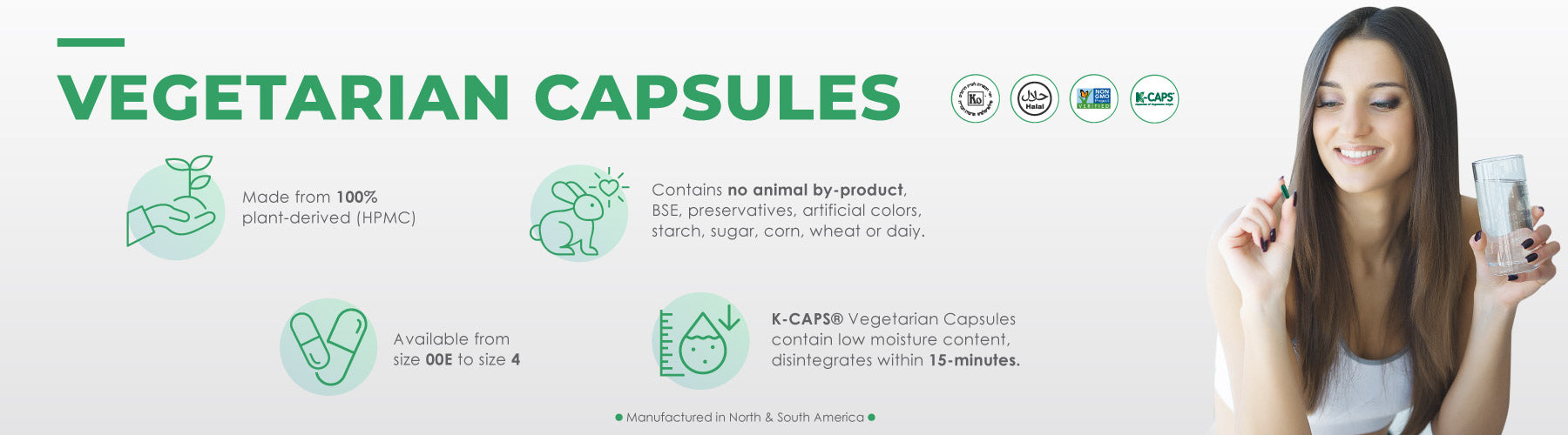Vegetarian Capsules in Colors by Capsuline