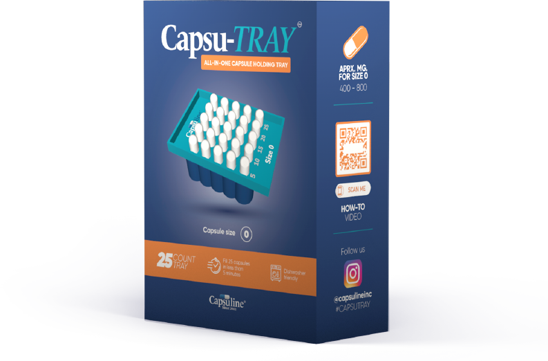 Capsu-Tray All-in-one capsule filling tray
