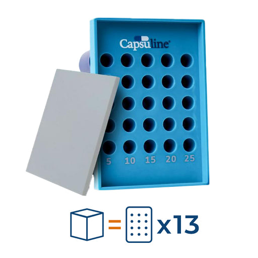 Capsu-TRAY manual capsule filling tray - Suitable for Size 00 capsules - 25 Count (13 units)