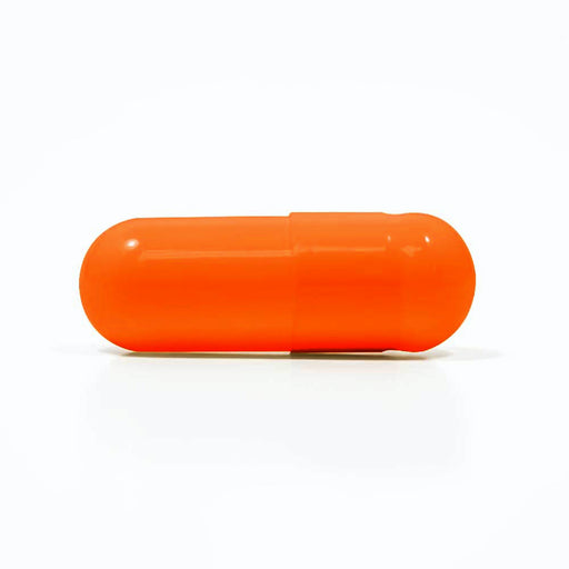 Colored Gelatin Capsules Size 3 Orange/Orange (Box of 200,000)