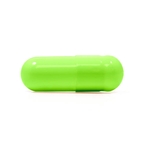 Lime Flavored Gelatin Capsules Size 0 Light Green/Light Green (Box of 100,000)