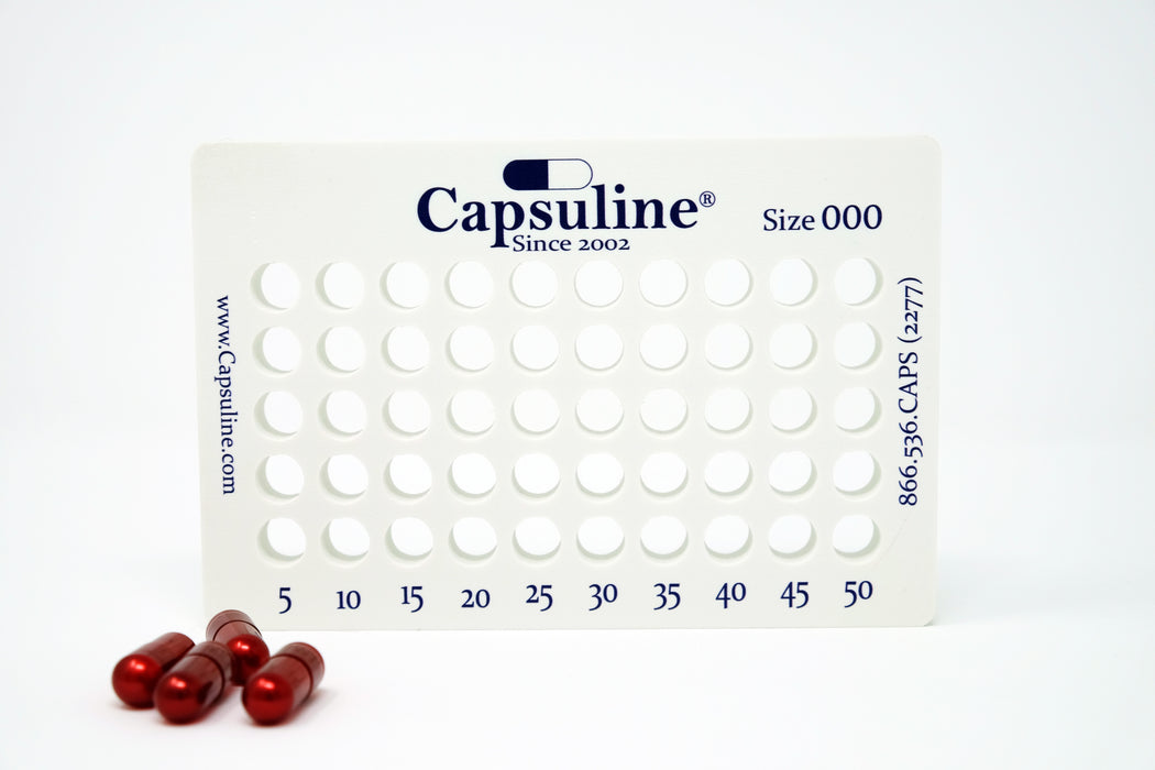 Size 000 Capsule Holding Tray by Capsuline - 50 Count
