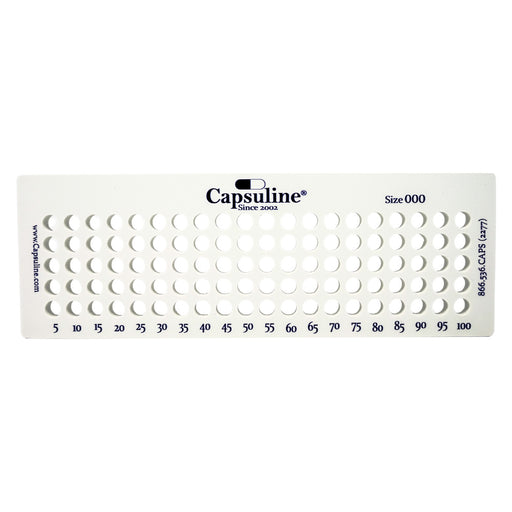 Size 000 Capsule Holding Tray by Capsuline - 100 Count