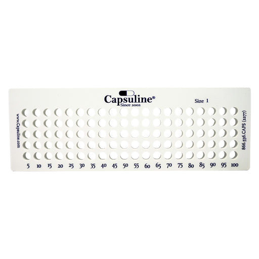 Size 1 Capsule Holding Tray by Capsuline - 100 Count