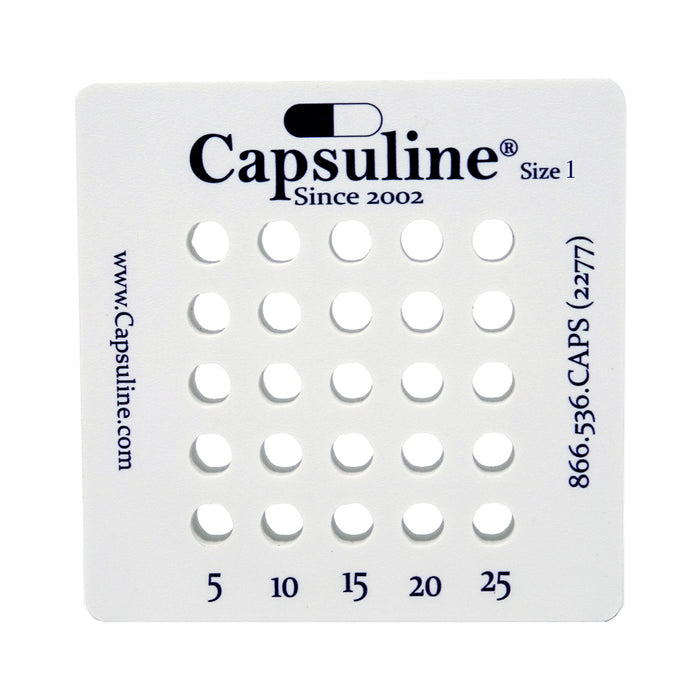 Size 1 Capsule Holding Tray by Capsuline - 25 Count