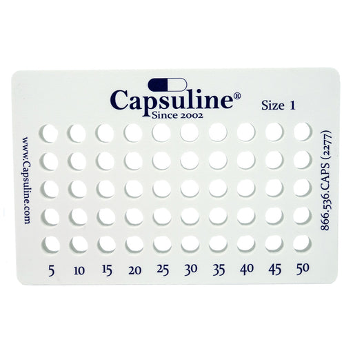 Size 1 Capsule Holding Tray by Capsuline - 50 Count