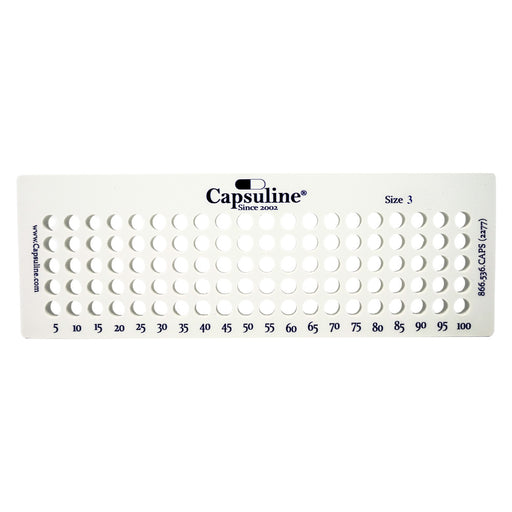 Size 3 Capsule Holding Tray by Capsuline - 100 Count