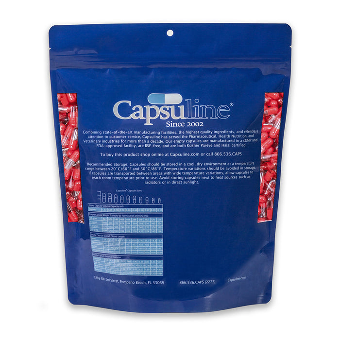 Colored Size 3 Empty Gelatin Capsules by Capsuline - Red/Clear