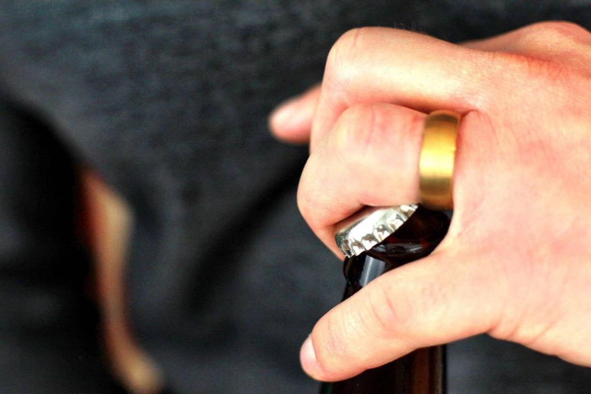 Opening a Beer Bottle with a Wedding Ring