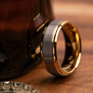 Buchannon Gold 8mm or 6mm Width Mens Wedding Ring from Mettle Rings