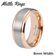 Buchannon 8mm Tungsten Carbide Mens Wedding Ring