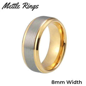 Buchannon Gold 8mm Tungsten Carbide Mens Wedding Ring