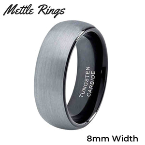 Fantana 8mm Tungsten Carbide Mens Wedding Ring