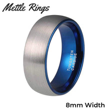 Forrest 8mm Tungsten Carbide Mens Wedding Ring