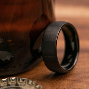 Gilmore 8mm Width Mens Wedding Ring from Mettle Rings