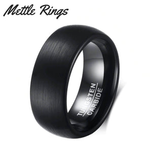 Gilmore 8mm Tungsten Carbide Mens Wedding Ring