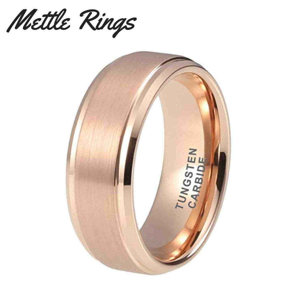 Neo Rose Gold 8mm Tungsten Carbide Mens Wedding Ring