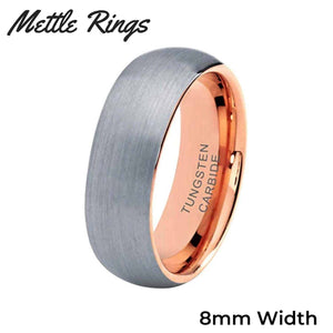 Zordon 8mm Tungsten Carbide Mens Wedding Ring