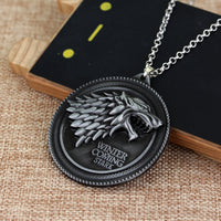 House of Stark Necklace Pendant - Seen On The Screen - TV and Movie Clothing