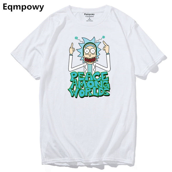 Peace Among Worlds Rick and Morty T-Shirt - Seen On The Screen - TV and Movie Clothing