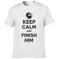 Keep Calm And Finish Him Mortal Kombat T Shirt - Seen On The Screen - TV and Movie Clothing