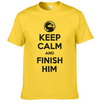 Keep Calm And Finish Him Mortal Kombat T Shirt