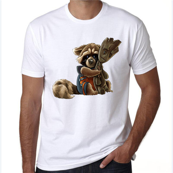 Baby Rocket and Groot T-Shirt - Seen On The Screen - TV and Movie Clothing