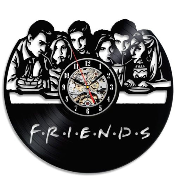 Creative Vinyl Friends Wall Clock - Seen On The Screen - TV and Movie Clothing