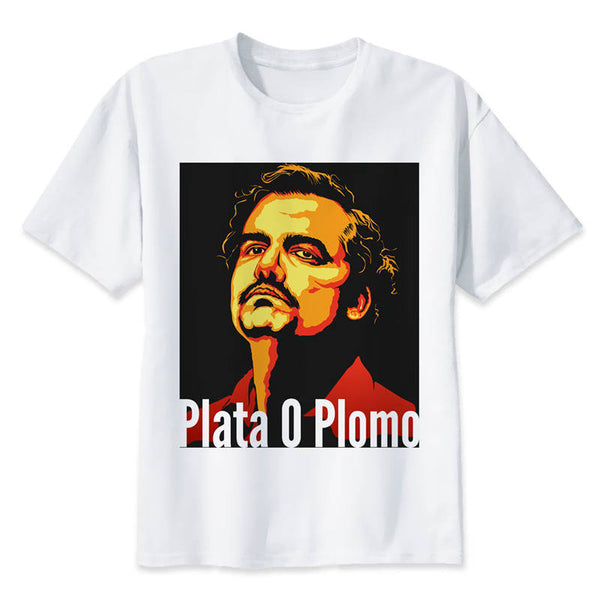 Plata O Plomo Narcos Escobar T-Shirt - Seen On The Screen - TV and Movie Clothing