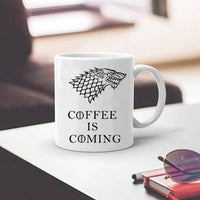 Coffee is Coming Mug - Game of Thrones - Seen On The Screen - TV and Movie Clothing