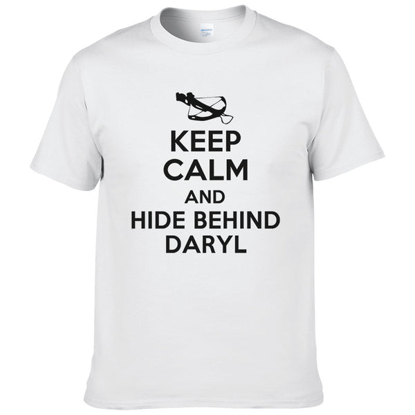 Keep Calm and Stay Behind Daryl T-Shirt - Seen On The Screen - TV and Movie Clothing