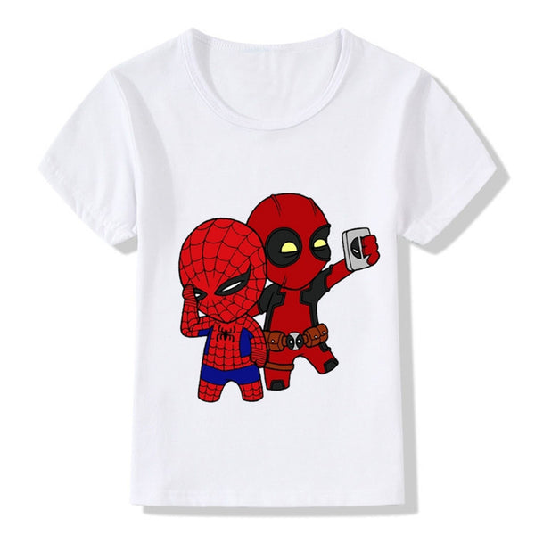 Deadpool and Spider man Funny T-Shirt - Seen On The Screen - TV and Movie Clothing