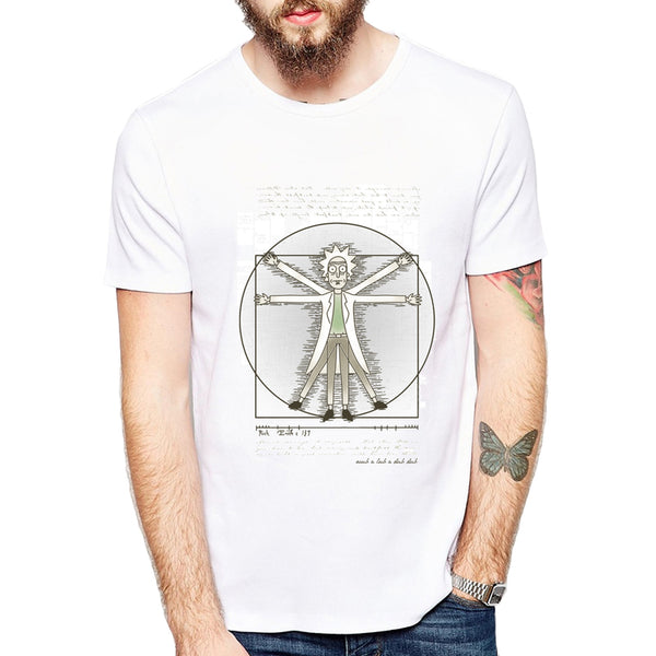 Rick and Morty Da Vinci Code T-Shirt - Seen On The Screen - TV and Movie Clothing