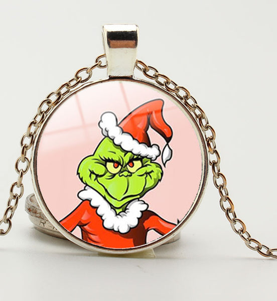 How the Grinch Stole Christmas Glass Pendant Necklace - Seen On The Screen - TV and Movie Clothing