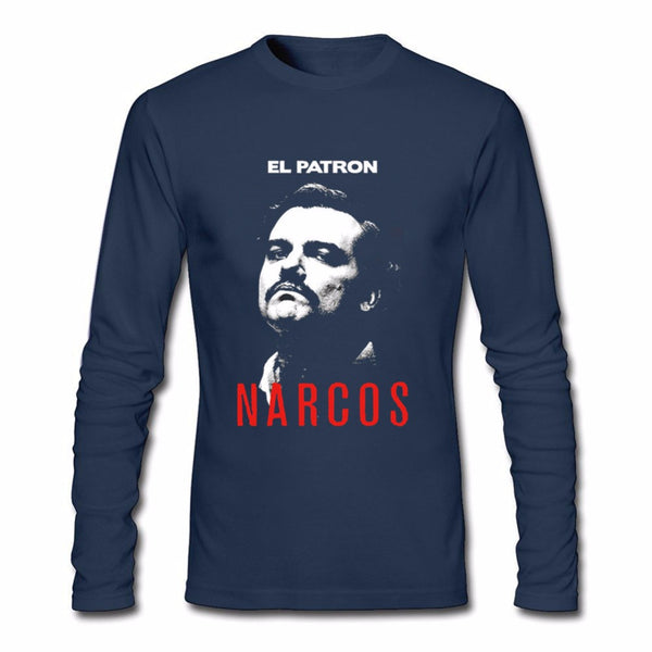 El Patron Pablo Escobar Long Sleeve Shirt - Seen On The Screen - TV and Movie Clothing