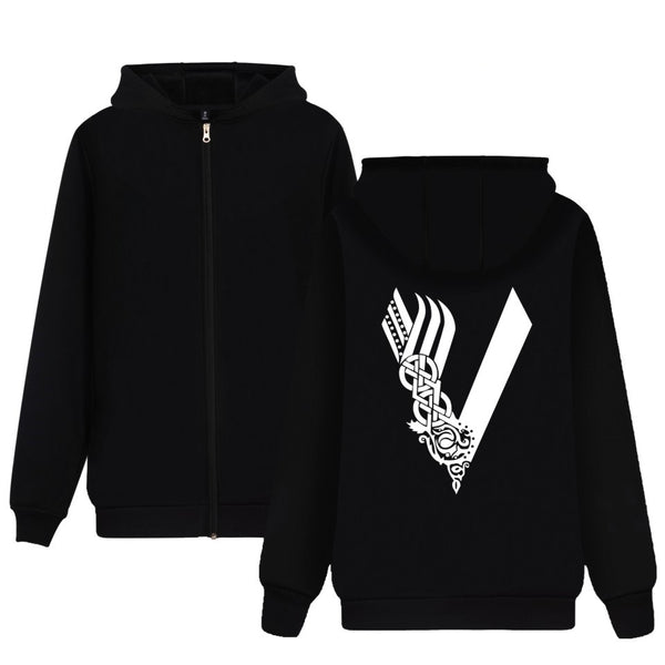 Vikings Hoodie With Zipper - Seen On The Screen - TV and Movie Clothing