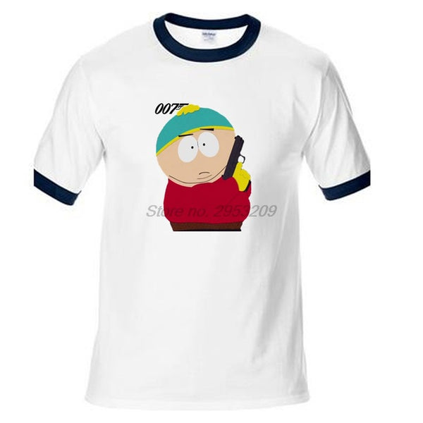 James Bond Eric Cartman 007 T-Shirt - Seen On The Screen - TV and Movie Clothing