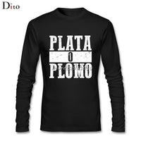 Plata O Plomo Long Sleeve T-Shirt - Seen On The Screen - TV and Movie Clothing