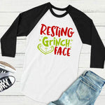 Resting Grinch Face Funny T-Shirt - Seen On The Screen - TV and Movie Clothing