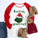Resting Grinch Face T-Shirt - Seen On The Screen - TV and Movie Clothing