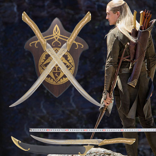 Lord of the rings Prince Legolas Metal Sword Set Replica - Seen On The Screen - TV and Movie Clothing