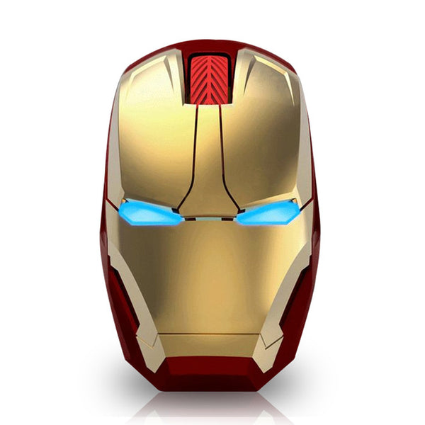 Wireless Iron Man Gaming Mouse Gold Mouse