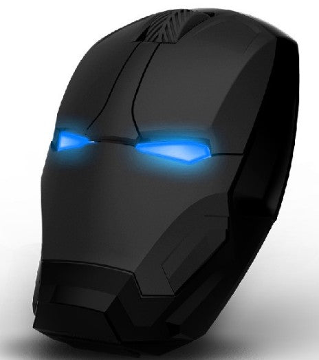 Wireless Iron Man Gaming Mouse Black Mouse
