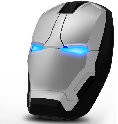Wireless Iron Man Gaming Mouse Silver Mouse