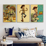 Vintage Toy Story Cartoon Movie Poster