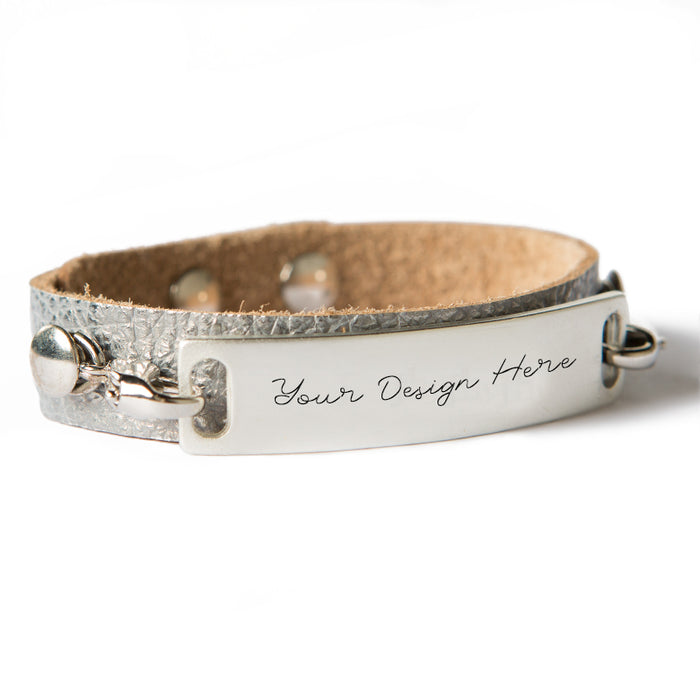 Petite Sentiment Leather Cuff Bracelet